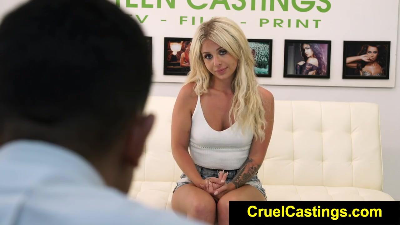 На порно кастинге при сексе орет что ей больно