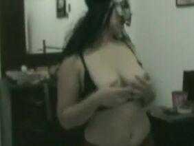 Грудастая азиатка перед домашним сексом дрочит белый член и лижет анус